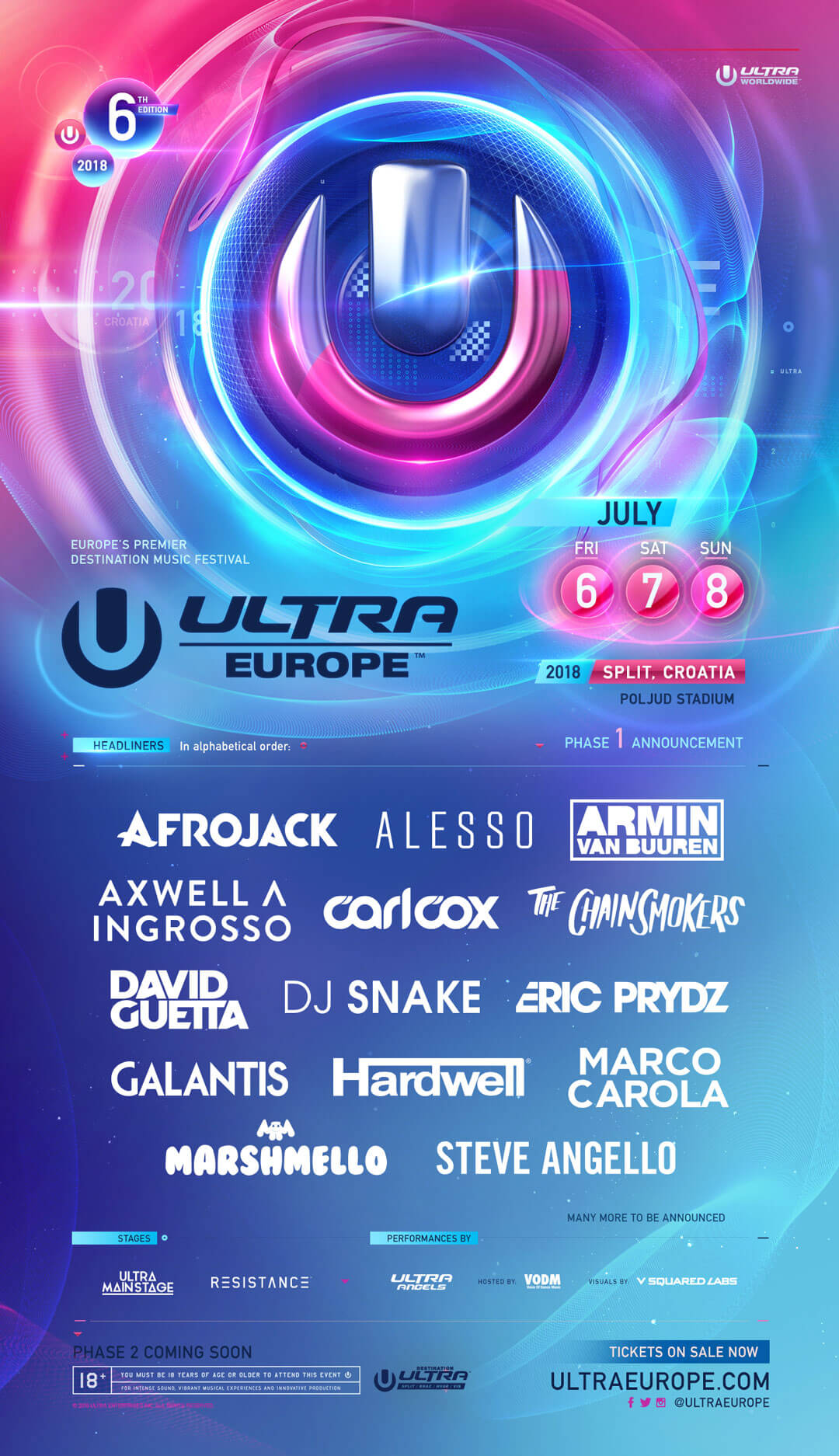 Ultra Music Festival Europe 2018 | Lineup | Tickets | Dates