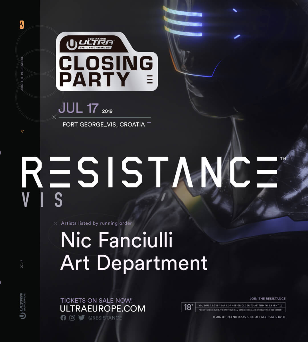 RESISTANCE Vis (Destination Ultra Closing Party)