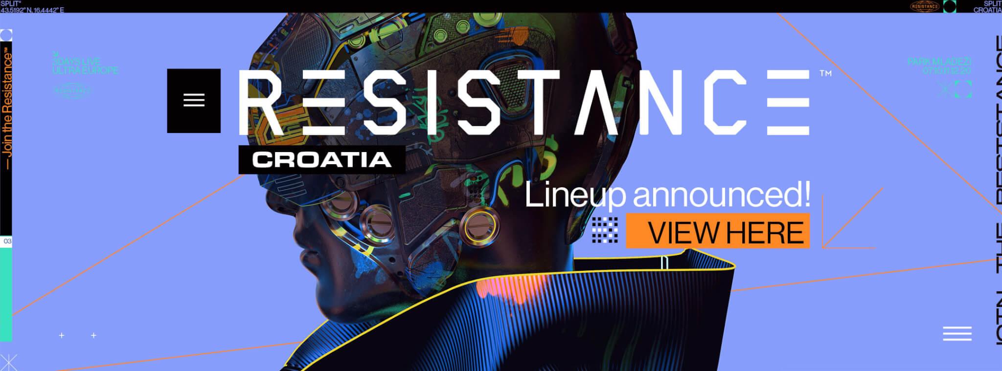 View the Resistance Croatia 2020 Lineup